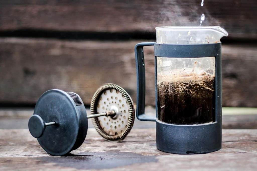 Should the water be boiling before adding it to the coffee grounds